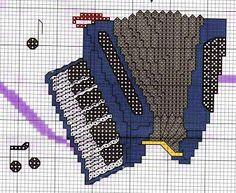 Fisarmonica - punto croce - cross Stitch - Kreuzstich - Punto de Cruz