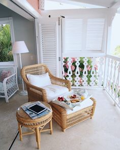 Breakfast in room at Cobblers Cove Barbados