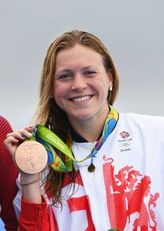 Team GB's Vicky Holland with her Olympic bronze medal