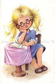 Füzesi Zsuzsa - Lorenin's Collection Cute Images, Cute Pictures, Cute Clipart, Princess Zelda, Disney Princess, S Pic, Cute Illustration, Cute Kids, Make Me Smile