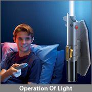 Star Wars Remote Controlled Lightsaber Room Light $29.99