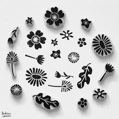 Flower Stamps by Andrea Lauren Blog
