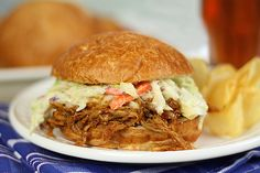 Pulled Pork Sandwiches with Apricot Bourbon Barbecue Sauce and Coleslaw — Food & Cocktail Recipes — Creative Culinary - A Denver, Colorado Food & Cocktail Blog