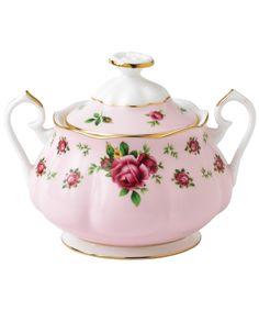 Royal Albert new country roses pink vintage sugar bowl