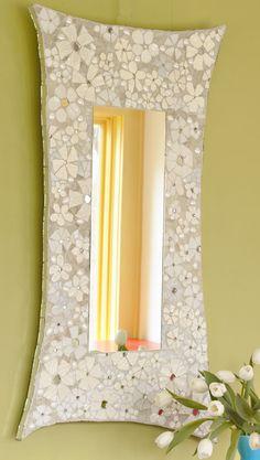 DIY broken plate mosaic - mirror frame or picture frame tutorial