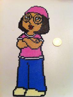 Meg Griffin Family Guy Mini Hama/Perler Sprites by Crafting Britain