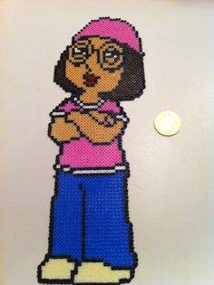 Meg Griffin Family Guy Mini Hama/Perler Sprites by Crafting Britain