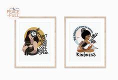Motivational Quotes, Inspirational Quotes, Original Art, Mindfulness, Art Prints, My Love, Paper, Frame, Illustration