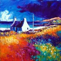 Summer cloud over Vatersay, Barra Landscape Artwork, Paintings I Love, Canvas Paintings, Naive Art, Oeuvre D'art, Painting Inspiration, Kitsch, Les Oeuvres, Watercolor Paintings