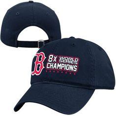 New Era Boston Red Sox 2013 MLB World Series Champions 8-Time Champions 9TWENTY Adjustable Hat - Navy Blue