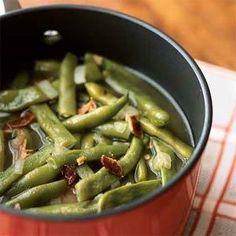 Basic Pot of Pole Beans Recipe   MyRecipes.com