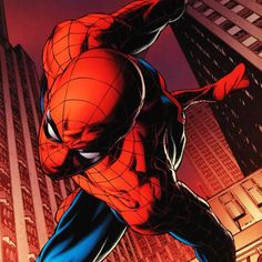 """A piece of comic book history, this limited edition, from original art by Joe Quesada, depicts the heroic Spider-Man. Joe Quesada gained renown in the comic book industry by drawing several Valiant Comics titles. In 1998, Quesada started a series for Marvel called Marvel Knights, the success of which launched him into the editor-in-chief seat and then Chief Creative Officer in 2010. """"Amazing Spider-Man #641"""" is an extremely limited edition giclee on canvas by Joe Quesada presented by Marvel…"""