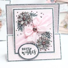 Follow this simple step-by-step cardmaking project to create this stunning 3D card at home using your Stamps by Chloe Box Kit 6! 50th Birthday Cards For Women, 40th Birthday Quotes, Birthday Gag Gifts, Wife Birthday, Birthday Images, Birthday Greetings, Birthday Wishes, Happy Birthday, Flower Stamp