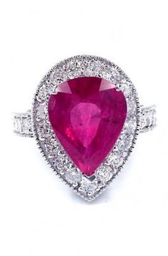 14k Gold, Ruby and Diamond RIng