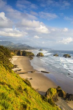 Located just an hour and a half from Portland on Oregon's blustery coast, Cannon Beach is often at its warmest in September. When the weather begins to cool off in October, you'll have the scenic beaches to yourself to enjoy the stunning sunsets that happen here.
