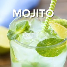 Mojitos are so fresh and delicious! This recipe has the option to make either a single serving or a pitcher of mojitos so you can share with your friends! This cocktail is the perfect blend of sweetness, citrus and mint to compliment…Read Wine Drinks, Cocktail Drinks, Cocktail Recipes, Alcoholic Drinks, Cocktail Tequila, Cucumber Cocktail, Summer Drink Recipes, Vodka Drinks, Beverages