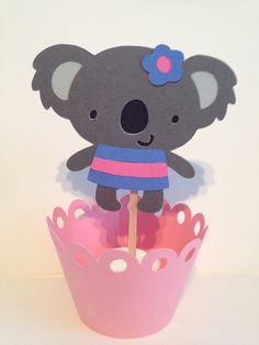 Koala Bears Cupcake Toppers by JellyBeanPaper on Etsy First Birthday Parties, First Birthdays, Cricut Baby Shower, Fun Crafts, Diy And Crafts, Bear Cupcakes, Bear Birthday, Kids Party Themes, All Things Cute