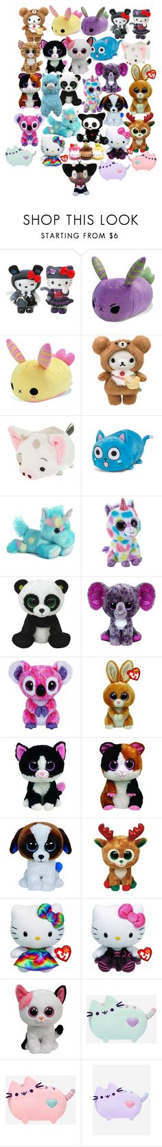"""""""Anyone else love stuffies?"""" by hateful-garbage ❤ liked on Polyvore featuring Hello Kitty, Disney, CO, Alpine, Pusheen and KURO"""