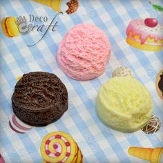 5pcs 24mm 3D Scooped ICE Cream Flatback Resin Food Cabochons Kawaii Decoden | eBay