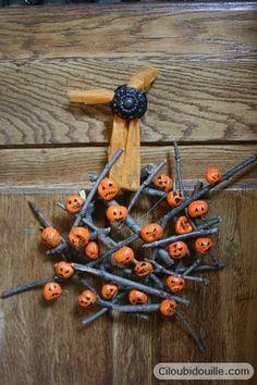 idée de couronne de porte pour Halloween