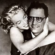 Marilyn Monroe and playwright Arthur Miller