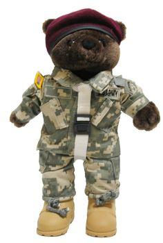 Army Airborne Army Combat Uniform (ACU) Male - Mini bear - Meach's Military Memorabilia & More