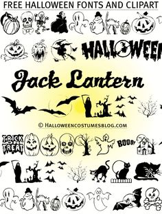 Free halloween fonts clipart