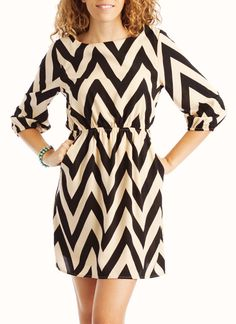 chevron printed dress