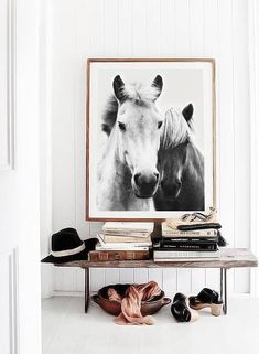 Horse Wall Art, Scandinavian Decor, Horses Printable Art