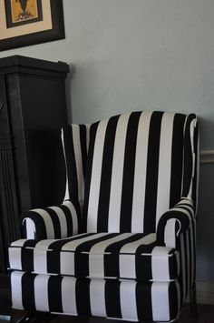 black and white chair