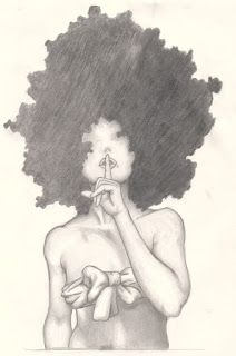 I want this drawing or one like it! Some one draw an Afro girl/girl with big hair for me! African American Art, African Art, Natural Hair Art, Natural Hair Styles, Natural Beauty, Afro Tattoo, Afro Girl, Curly Girl, Black Artwork