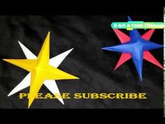 3D Paper Star | Origami Star | Paper Crafts Easy | Christmas Star Paper Decoration - YouTube