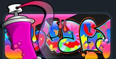 Graffiti Creator lets you design your own name or logo. Choose from severla different font styles and an array of cool tools to make it look like the real thing! Graffiti your webpage not public walls! Graffiti Creator, Graffiti Words, Graffiti Styles, Graffiti Designs, Font Creator, The Creator, Graffiti Generator, Name Design Art