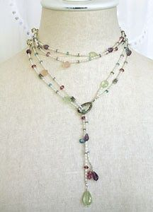 Bead Bee Beading Blog - project ideas, how to make jewelry, make your own jewelry ideas: Gemstone Lariat Necklace