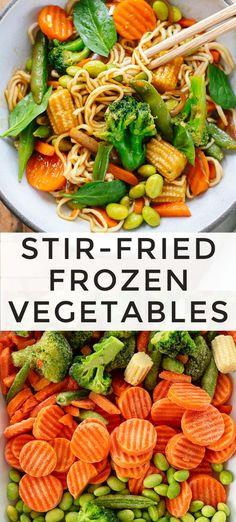 Frozen Stir-Fry Vegetables in Sesame Ginger Sauce