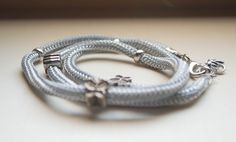 Climbing cord bracelet.
