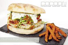Thunfisch-Burger mit Süßkartoffel