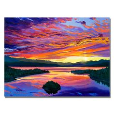 Trademark Fine Art David Lloyd Glover 'Paint Brush Sky' Canvas Art