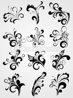 Tattoos design set — Stock Illustration #1550814