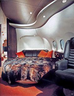 Interior Hugh Hefner's private Jet ( 1960s )