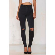 RES Denim Harry's Hi Skinny Jean ($145) ❤ liked on Polyvore featuring jeans, black, black skinny jeans, ripped jeans, mens jeans, skinny jeans and destroyed jeans