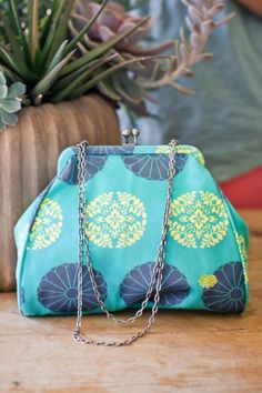 Amy Butler's Nora Clutch from the Blue Imperial Collection for Kalencom