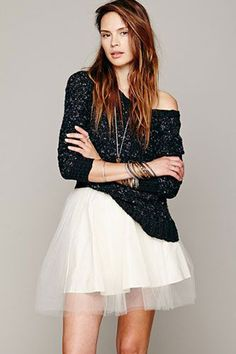 we are currently craving ballerina skirts for fall
