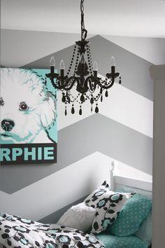 chevron teen rooms on pinterest chevron room decor chevron bedrooms and grey chevron walls. Black Bedroom Furniture Sets. Home Design Ideas