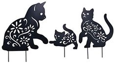 Cat Lover Gifts, Cat Gifts, Cat Lovers, Black Cat Silhouette, Animal Silhouette, Paper Cutting Patterns, Metal Garden Art, Cat Garden, Cat Drawing
