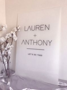 FROSTED Acrylic Wedding Welcome Sign | Modern Minimalist Wedding Engagement Event Signs | White Black or Clear Acrylic | Willow and Ink Minimalist Wedding Decor, Ceremony Signs, Wedding Signage, Event Signage, Wedding Mood Board, Wedding Welcome Signs, Guest Book Sign, Invitation Design, Invitation Cards