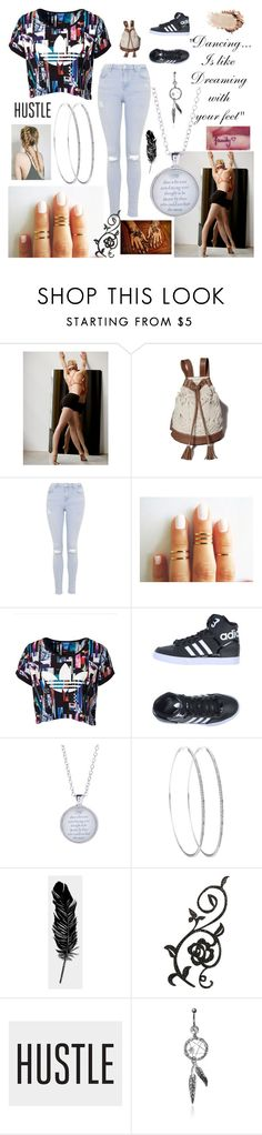 """I want to Dance with Somebody..."" by eillen ❤ liked on Polyvore featuring Free People, Abercrombie & Fitch, Topshop, adidas Originals, Tattly and MARBELLA"
