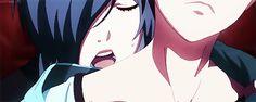 Kaneki and Touka - Tokyo ghoul gif Tokyo Ghoul Quotes, Ken Tokyo Ghoul, Kaneki Y Touka, Vocaloid, Angel Aesthetic, Anime Angel, Dark Anime, Touken Ranbu, Manga Anime