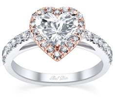 Heart shaped rose gold engagement ring with diamond halo. I have always wanted a heart shaped diamond ring. Heart Shaped Diamond Ring, Heart Shaped Engagement Rings, Halo Diamond Engagement Ring, Diamond Wedding Rings, Wedding Band, Heart Shaped Promise Rings, Diamond Rings, Engagement Jewelry, Gold Wedding