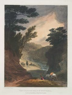 View near the Falls of Schuylkill. (1819-1821)